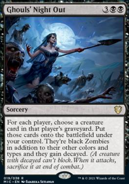 Innistrad: Midnight Hunt Commander Decks: Ghouls' Night Out