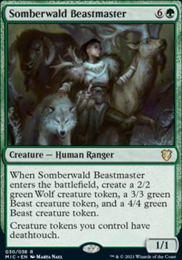 Innistrad: Midnight Hunt Commander Decks: Somberwald Beastmaster
