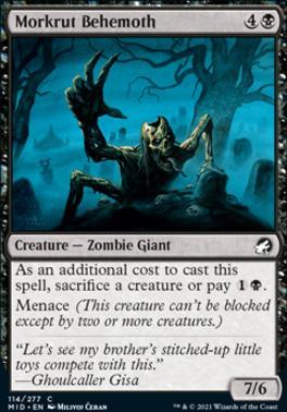 Innistrad: Midnight Hunt: Morkrut Behemoth