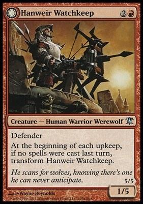 Innistrad Foil: Hanweir Watchkeep