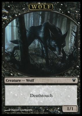 Innistrad: Wolf Token (Deathtouch)