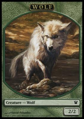 Innistrad: Wolf Token (Green)