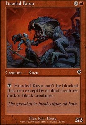 Invasion Foil: Hooded Kavu
