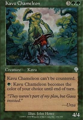 Invasion Foil: Kavu Chameleon