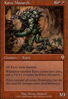 Invasion Foil: Kavu Monarch