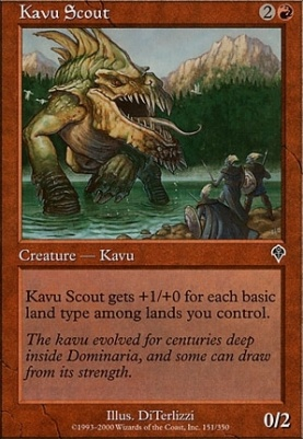 Invasion Foil: Kavu Scout
