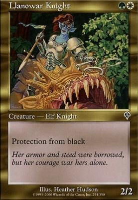 Invasion Foil: Llanowar Knight