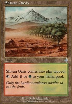 Invasion Foil: Shivan Oasis