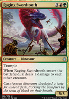 Ixalan Foil: Raging Swordtooth