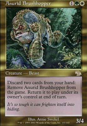 RARE Beast SL * MTG 1x Anurid Brushhopper-Judgment