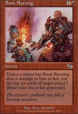 Judgment Foil: Book Burning