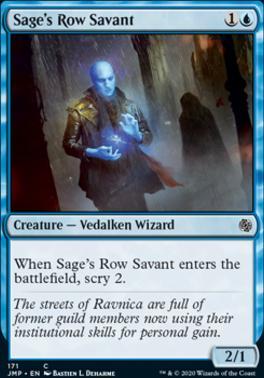 Jumpstart: Sage's Row Savant