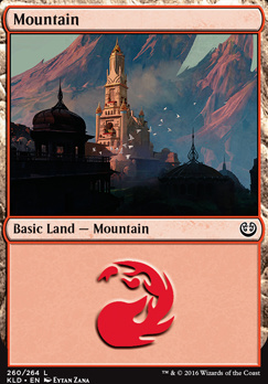 Kaladesh Foil: Mountain (260 B)