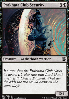 Kaladesh: Prakhata Club Security