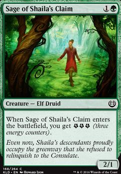 Kaladesh: Sage of Shaila's Claim