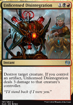 Kaladesh: Unlicensed Disintegration