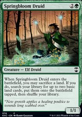 Kaldheim Commander Decks: Springbloom Druid