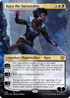 Kaldheim Variants: Kaya the Inexorable (Borderless)