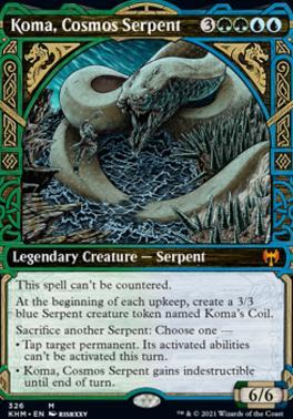 Kaldheim Variants: Koma, Cosmos Serpent (Showcase)