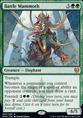 Kaldheim Foil: Battle Mammoth