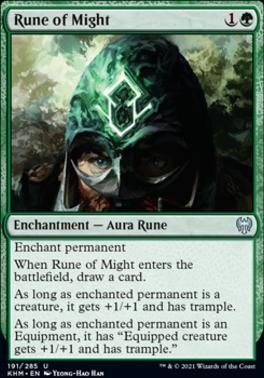 Kaldheim Foil: Rune of Might