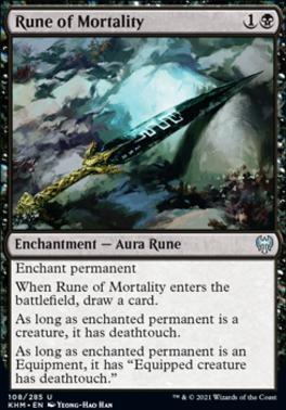 Kaldheim Foil: Rune of Mortality