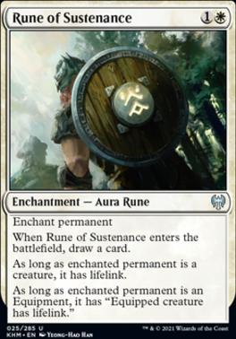 Kaldheim Foil: Rune of Sustenance