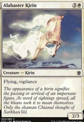 Khans of Tarkir Foil: Alabaster Kirin