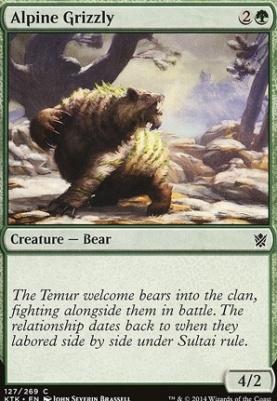 Khans of Tarkir: Alpine Grizzly