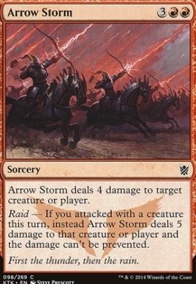Khans of Tarkir Foil: Arrow Storm