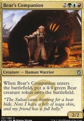 Khans of Tarkir: Bear's Companion