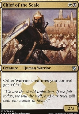 Khans of Tarkir Foil: Chief of the Scale