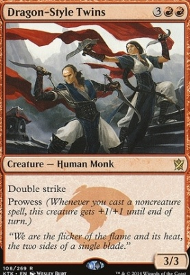 Khans of Tarkir Foil: Dragon-Style Twins