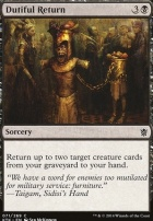 Khans of Tarkir Foil: Dutiful Return