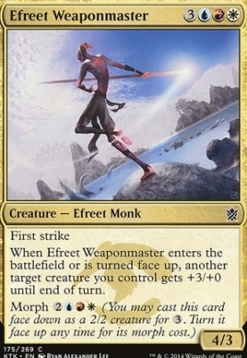 Khans of Tarkir: Efreet Weaponmaster