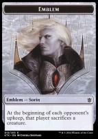 Khans of Tarkir: Emblem (Sorin, Solemn Visitor)