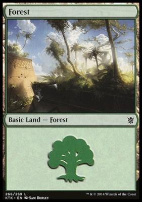 Khans of Tarkir: Forest (266 A)
