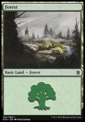 Khans of Tarkir: Forest (267 B)