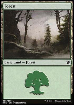 Khans of Tarkir: Forest (268 C)