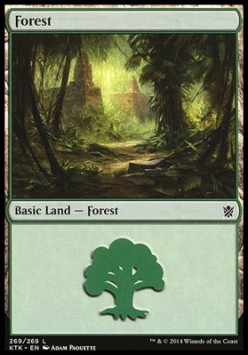 Khans of Tarkir Foil: Forest (269 D)