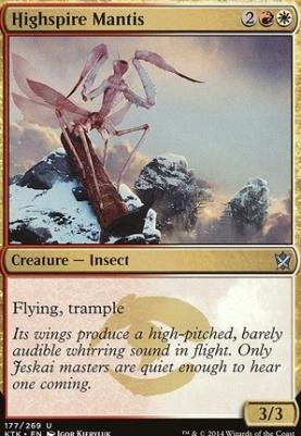 Khans of Tarkir Foil: Highspire Mantis