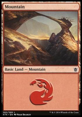 Khans of Tarkir: Mountain (262 A)