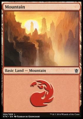 Khans of Tarkir: Mountain (264 C)