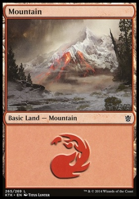 Khans of Tarkir: Mountain (265 D)