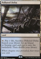 Khans of Tarkir Foil: Polluted Delta