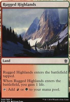 Khans of Tarkir Foil: Rugged Highlands