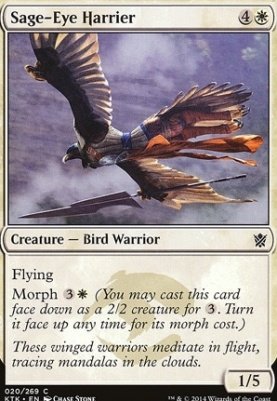 Khans of Tarkir Foil: Sage-Eye Harrier