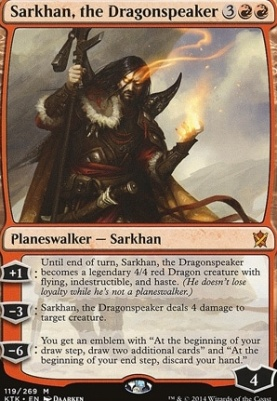 Khans of Tarkir Foil: Sarkhan, the Dragonspeaker
