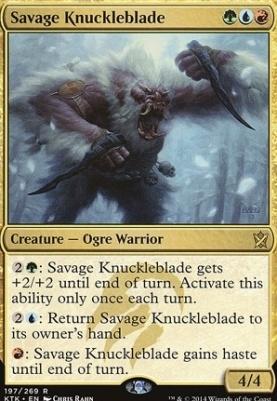 Khans of Tarkir: Savage Knuckleblade