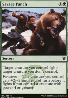 Khans of Tarkir Foil: Savage Punch
